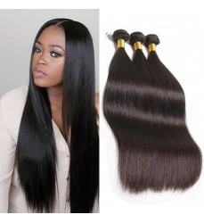 30% Off DHL Free Shipping Virgin Brazilian Straight Hair 3 Bundle Deals