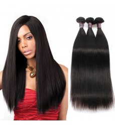 Promotion! DHL Free Shipping 100% Peruvian Straight Virgin Hair 3 Bundle Deals